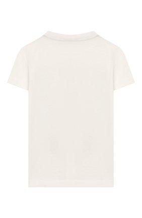 Детская хлопковая футболка FENDI белого цвета, арт. JMI315/7AJ/8A-12+ | Фото 2