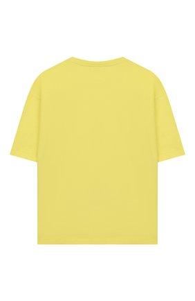 Детская хлопковая футболка FENDI желтого цвета, арт. JMI318/7AJ/8A-12+ | Фото 2