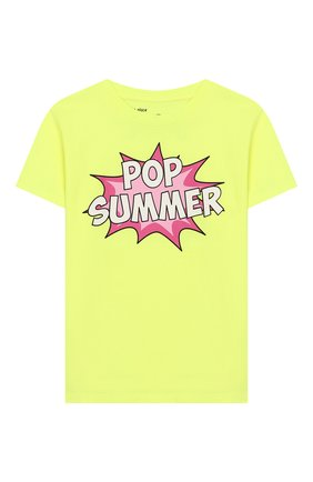 Детская хлопковая футболка MC2 SAINT BARTH желтого цвета, арт. STBK ELLY/ELLY001 | Фото 1