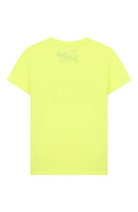 Детская хлопковая футболка MC2 SAINT BARTH желтого цвета, арт. STBK ELLY/ELLY001 | Фото 2