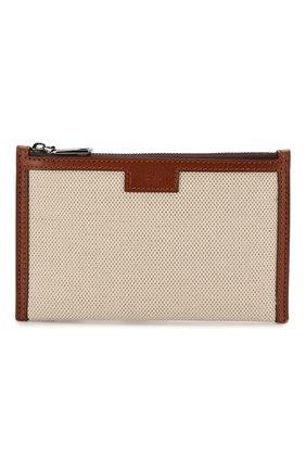 Мужская текстильная поясная сумка DOLCE & GABBANA бежевого цвета, арт. BM1747/AJ902 | Фото 1