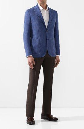 Мужские кожаные монки MAGNANNI темно-коричневого цвета, арт. 22338/WIND | Фото 2