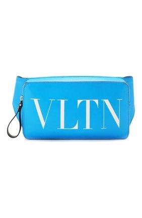Кожаная поясная сумка Valentino Garavani VLTN   Фото №1