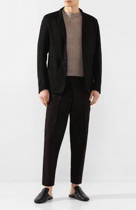 Мужские кожаные сабо ROCCO P. черного цвета, арт. 10025/TRIP0N | Фото 2