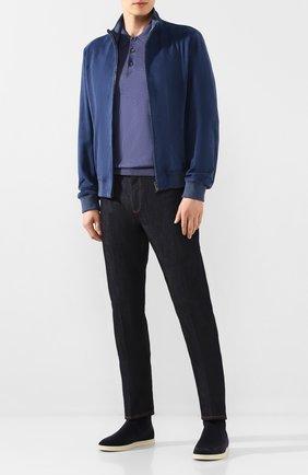 Мужские текстильные челси soho walk LORO PIANA темно-синего цвета, арт. FAL0328 | Фото 2