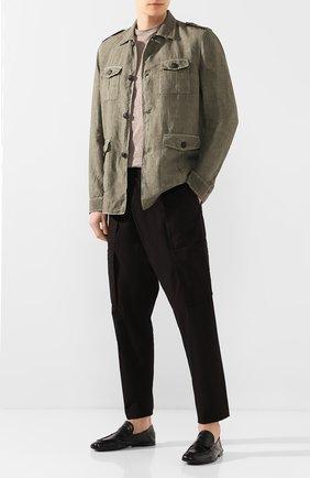 Мужские кожаные пенни-лоферы ROCCO P. черного цвета, арт. 10006/TRIP0N | Фото 2