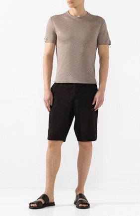 Мужские кожаные шлепанцы BOGNER черного цвета, арт. 101-A511/ACAPULK0 3 | Фото 2