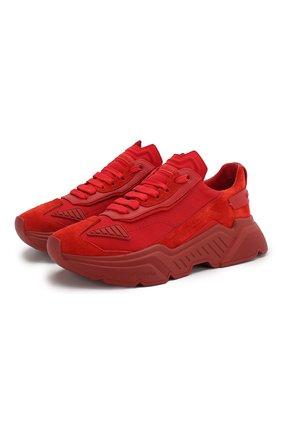 Мужские комбинированные кроссовки daymaster DOLCE & GABBANA красного цвета, арт. CS1765/AX014   Фото 1