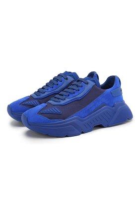Мужские комбинированные кроссовки daymaster DOLCE & GABBANA синего цвета, арт. CS1765/AX014 | Фото 1