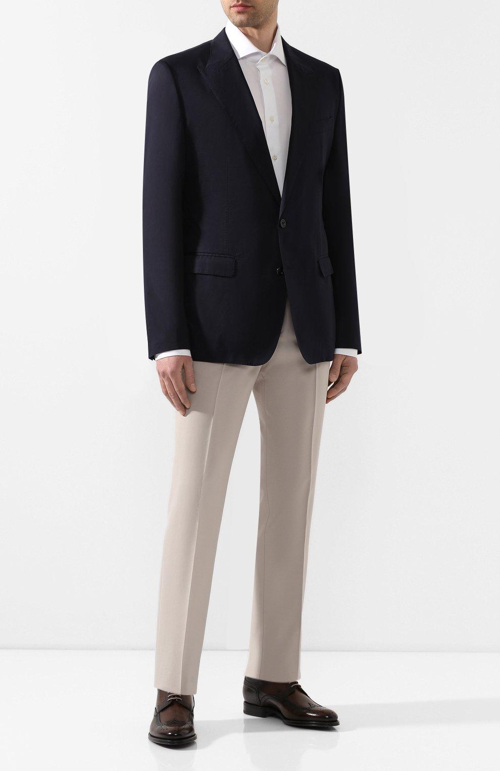 Мужские кожаные дерби napoli DOLCE & GABBANA коричневого цвета, арт. A10533/AX038 | Фото 2
