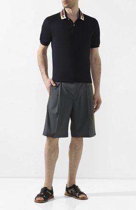 Мужские кожаные сандалии pantheon DOLCE & GABBANA черного цвета, арт. A80162/AJ634 | Фото 2