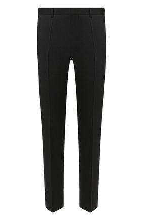 Мужские шерстяные брюки BOSS черного цвета, арт. 50408837 | Фото 1 (Случай: Формальный; Материал внешний: Шерсть; Длина (брюки, джинсы): Стандартные; Стили: Классический)