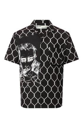 Мужская рубашка OFF-WHITE черного цвета, арт. 0MGA103S20H870331001 | Фото 1