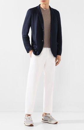 Мужская льняная футболка CRUCIANI темно-бежевого цвета, арт. CUJLIB.G30   Фото 2