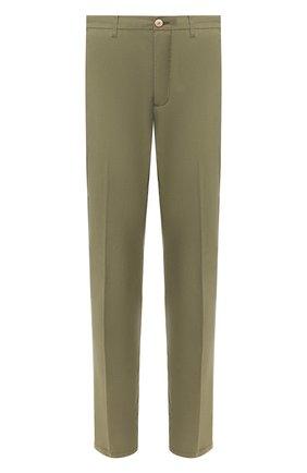 Мужской брюки из смеси хлопка и шелка ALTEA зеленого цвета, арт. 2053051   Фото 1