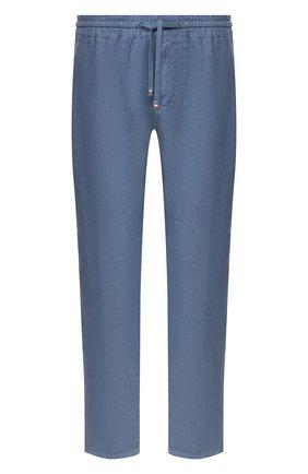 Мужской льняные брюки ALTEA голубого цвета, арт. 2053065   Фото 1