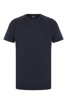 Мужская хлопковая футболка KNT темно-синего цвета, арт. UMM0039K06S84 | Фото 1