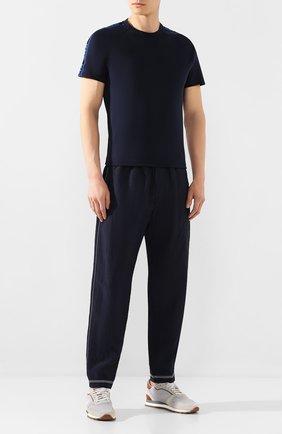 Мужская хлопковая футболка KNT темно-синего цвета, арт. UMM0039K06S84 | Фото 2