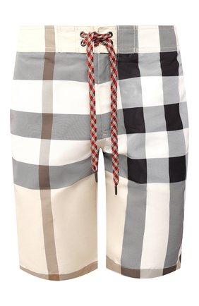 Детского плавки-шорты BURBERRY бежевого цвета, арт. 8025948 | Фото 1