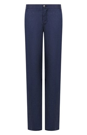 Мужской брюки из смеси льна и шерсти ZILLI темно-синего цвета, арт. M0T-D0150-LALI1/R001 | Фото 1