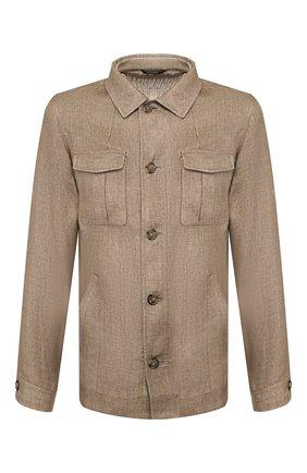 Мужская льняная куртка LORO PIANA бежевого цвета, арт. FAI9991 | Фото 1
