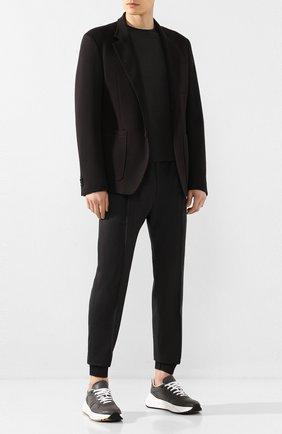 Мужской шерстяные джоггеры BERLUTI темно-серого цвета, арт. R17TCU60-001 | Фото 2