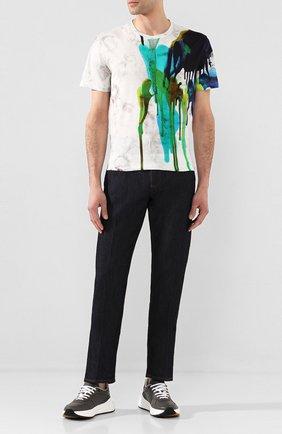 Мужская хлопковая футболка BERLUTI разноцветного цвета, арт. R17JRS44-002   Фото 2
