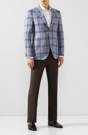 Мужской пиджак из смеси льна и шелка L.B.M. 1911 голубого цвета, арт. 2411/02753 | Фото 2