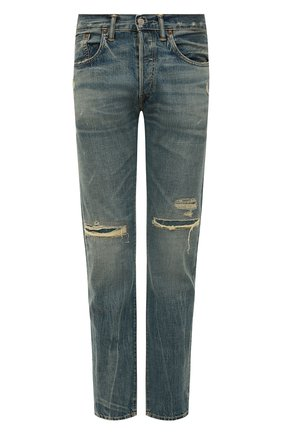 Мужские джинсы RRL голубого цвета, арт. 782504838/032 | Фото 1