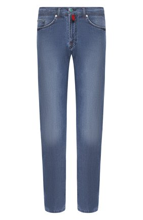 Мужские джинсы KITON голубого цвета, арт. UPNJS1/J07S33 | Фото 1