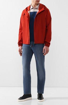 Мужские джинсы KITON голубого цвета, арт. UPNJS1/J07S33 | Фото 2