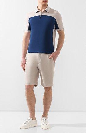 Мужские хлопковые шорты LORO PIANA серого цвета, арт. FAL0981 | Фото 2
