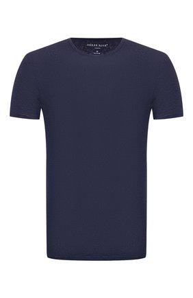 Мужские льняная футболка DEREK ROSE темно-синего цвета, арт. 3163-J0RD001 | Фото 1