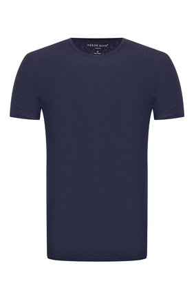 Мужская льняная футболка DEREK ROSE темно-синего цвета, арт. 3163-J0RD001 | Фото 1