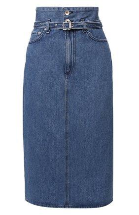 Женская джинсовая юбка RAG&BONE синего цвета, арт. WDD19H1B07K3BG   Фото 1