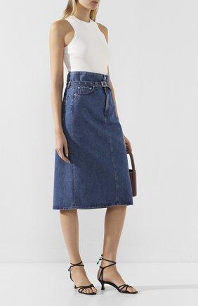 Женская джинсовая юбка RAG&BONE синего цвета, арт. WDD19H1B07K3BG   Фото 2