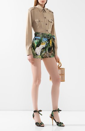 Женская хлопковая рубашка DOLCE & GABBANA бежевого цвета, арт. F5M03T/FU5K9 | Фото 2