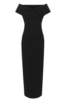 Женское платье-макси THE ROW черного цвета, арт. 5025K285 | Фото 1 (Рукава: Короткие; Длина Ж (юбки, платья, шорты): Миди, Макси; Материал внешний: Вискоза; Случай: Вечерний)