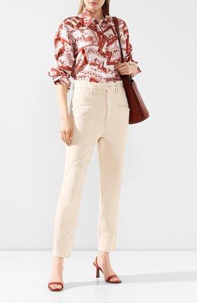 Женские джинсы ISABEL MARANT бежевого цвета, арт. PA1648-20E010I/EL0ISA | Фото 2