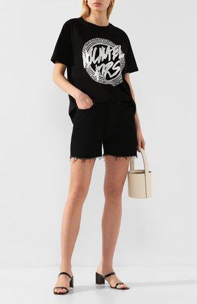 Женская хлопковая футболка MICHAEL MICHAEL KORS черного цвета, арт. MH95MEU97J | Фото 2