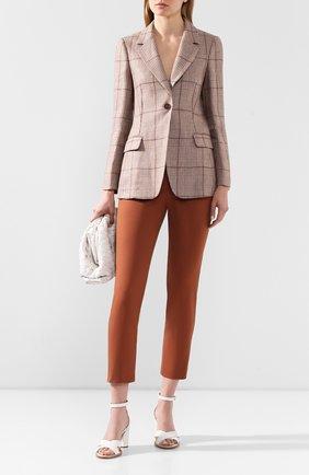 Женский льняной жакет BRUNELLO CUCINELLI коричневого цвета, арт. MF5998982 | Фото 2
