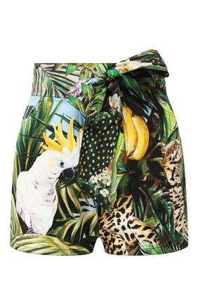 Женские хлопковые шорты DOLCE & GABBANA разноцветного цвета, арт. FTBU0T/GDU55 | Фото 1