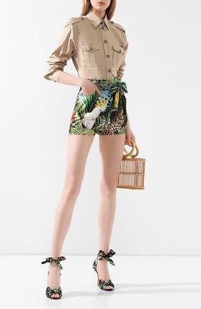 Женские хлопковые шорты DOLCE & GABBANA разноцветного цвета, арт. FTBU0T/GDU55 | Фото 2