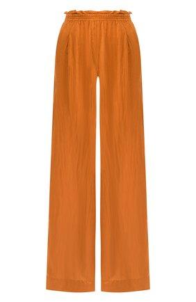 Женские шелковые брюки FORTE_FORTE золотого цвета, арт. 7279 | Фото 1