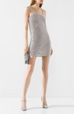 Женское мини-платье GIUSEPPE DI MORABITO серебряного цвета, арт. SS20140DR-93-11   Фото 2