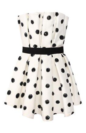 Женское мини-платье GIUSEPPE DI MORABITO черно-белого цвета, арт. SS20126DR-89   Фото 1