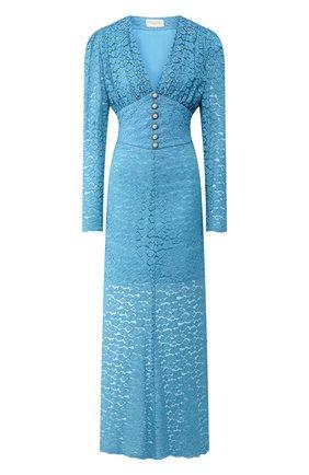 Женское платье-макси GIUSEPPE DI MORABITO голубого цвета, арт. SS20129DR-85   Фото 1