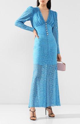 Женское платье-макси GIUSEPPE DI MORABITO голубого цвета, арт. SS20129DR-85   Фото 2