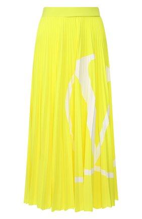 Женская плиссированная юбка VALENTINO желтого цвета, арт. TB0MD00Y4TJ | Фото 1