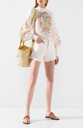 Женские шорты из смеси хлопка и льна TWO WOMEN IN THE WORLD белого цвета, арт. D0NY/Y175J | Фото 2